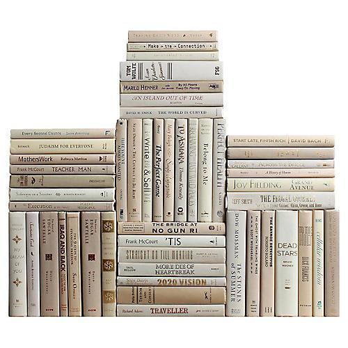 Neutral Book Wall, S/50