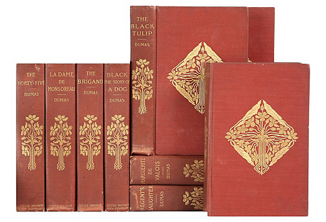 Garnet & Gilt French Novels, S/9