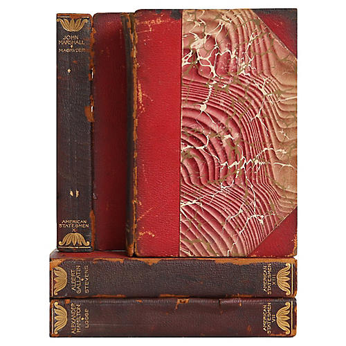Distressed Leather Biographies, S/4