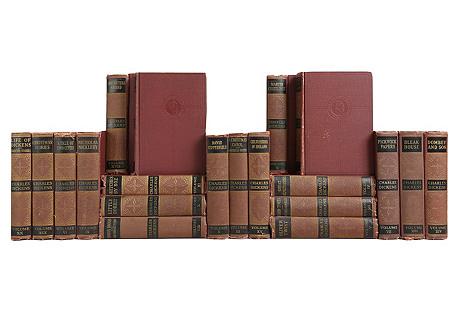 Charles Dickens Bookshelf, S/20