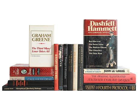 Classic Espionage & Mystery Novels, S/15