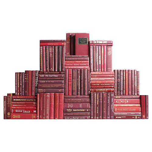 Burgundy Book Wall, S/100