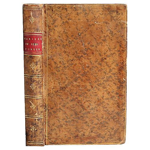 La Maniere De Bien Penser, 1709