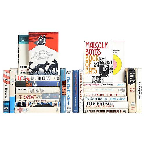 Midcentury Red, White & Blue Books, S/25