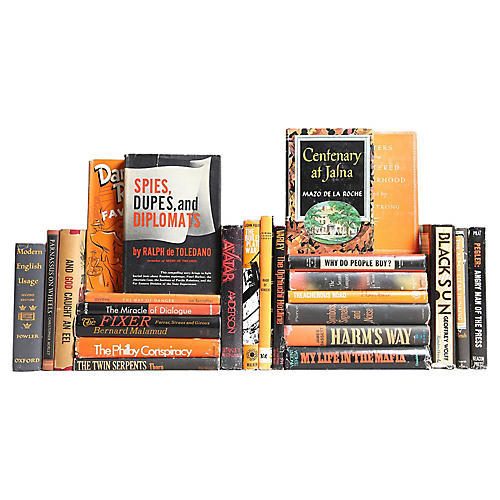 Midcentury Novels: Black & Orange, S/25