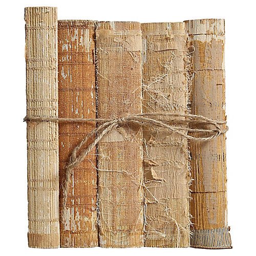 Weathered History Book Set, S/5