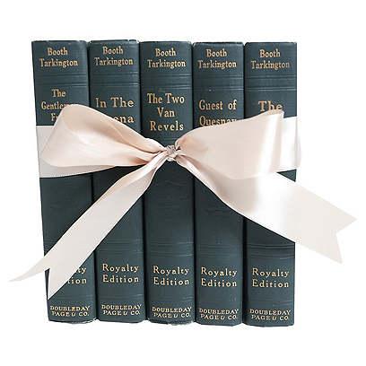 Vintage Teal Novels Gift Set, S/5