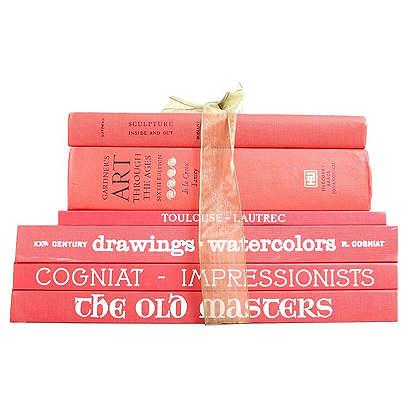 Vintage Gift Set: Red Matte Art Books