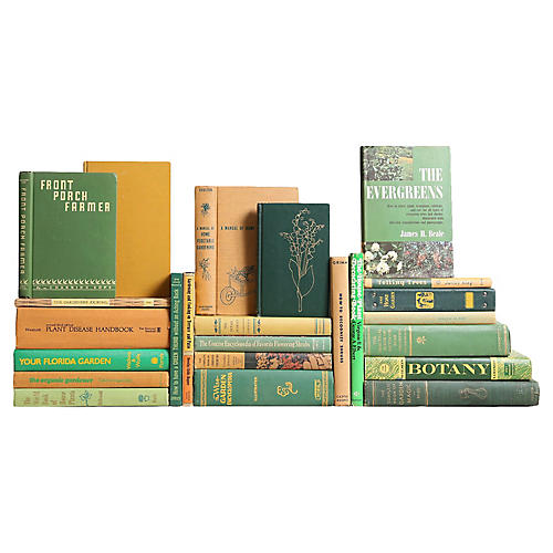 Vintage Gardening Book Collection, S/25