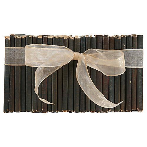Vintage Leather Book Gift Set, S/25