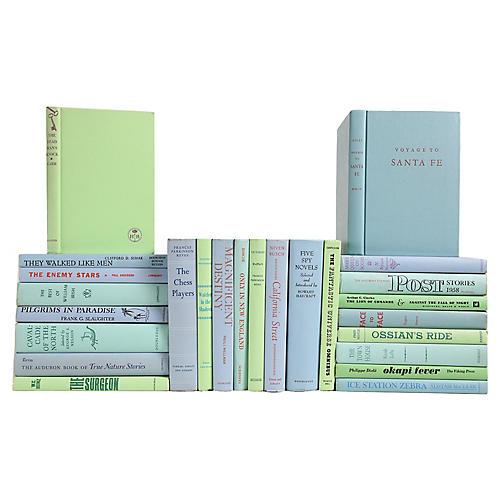 Midcentury Pastel Book Set, S/25