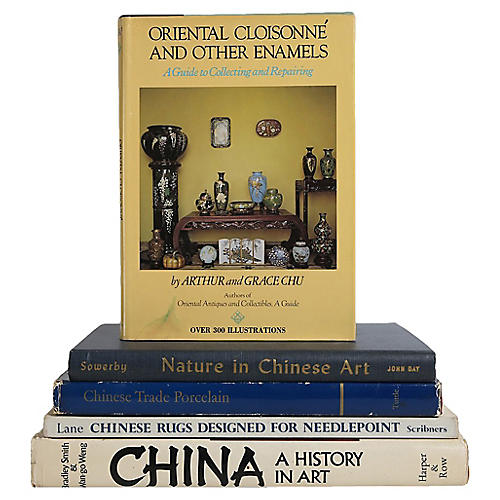 Chinese Art Book Stack, S/5