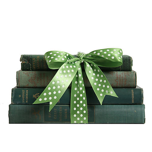 Vintage Green Book Gift Set, S/4