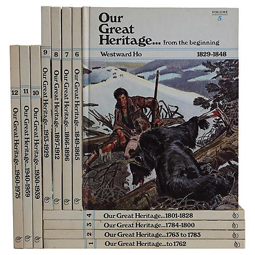 Children's Vintage History Books, S/12