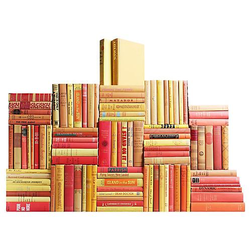 Midcentury Sunburst Book Wall, S/100