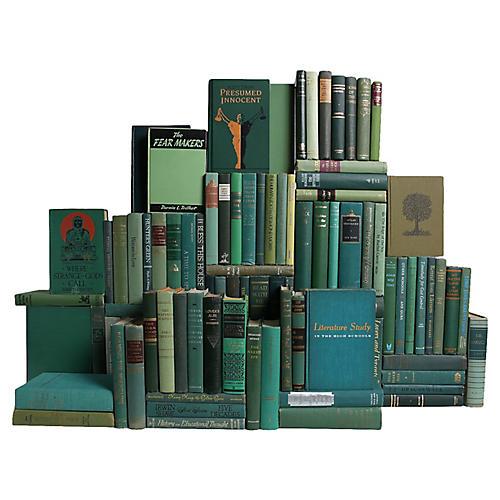 Midcentury Boxwood Book Wall, S/100
