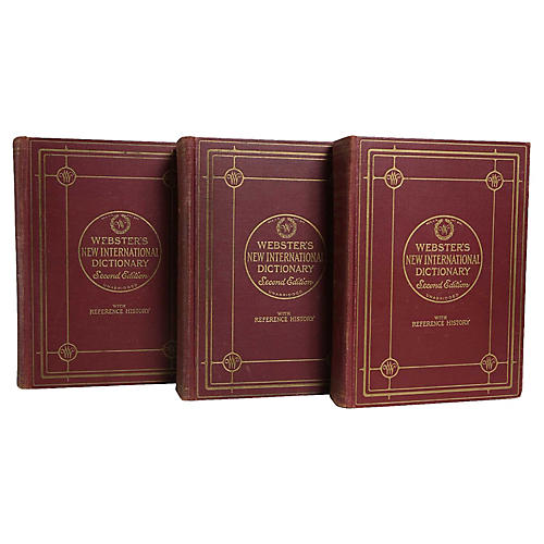 1940's Webster's Dictionary Trio