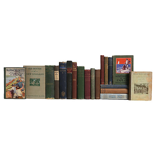 New England Vintage Book Mix, S/20