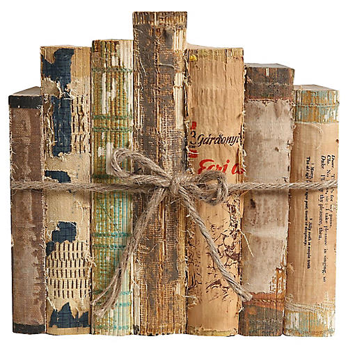 Vintage Book Set: Paper & String, S/7