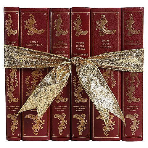 Ornate Russian Classics Book Set, S/6
