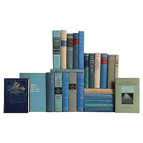 America's History Book Set in Blue, S/25
