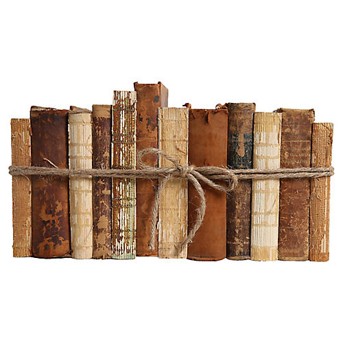 Leather & String Book Set, S/12