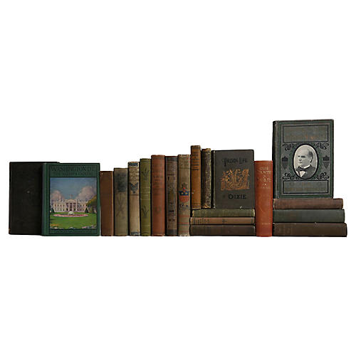 Weathered American History Book Set