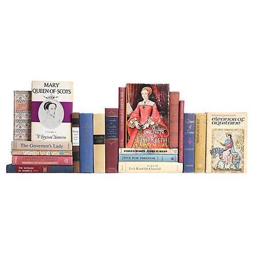 Historic Women Book Set, S/20