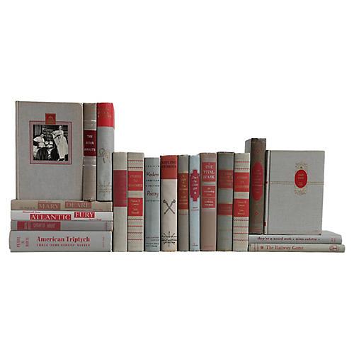 Granite & Ruby Midcentury Book Mix, S/20
