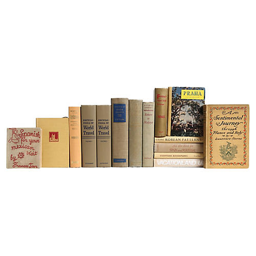 World Travels Book Set in Neutral, S/15