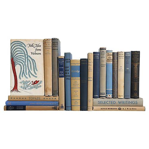 Denim & Flax Pocket-Sized Book Set, S/20