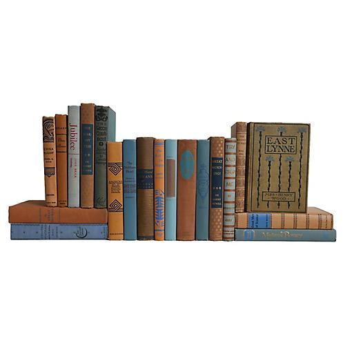 Midcentury Book Set: Copper & Sky, S/20