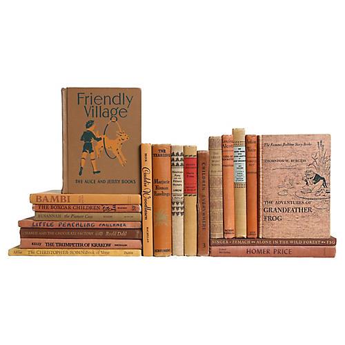 Children's Neutral Book Set, S/20