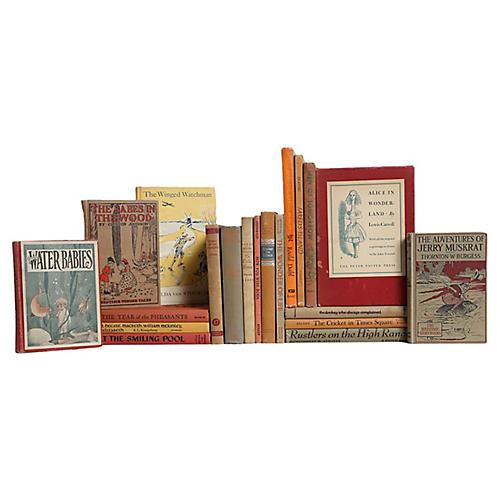 Children's Vintage Book Set, S/20