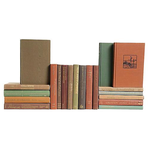 Retro Earthtone Book Set, S/20