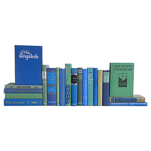 Bright Blue & Green Midcentury Readings