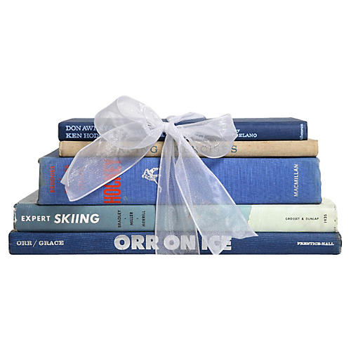 Vintage Book Gift Set: Hockey & Skiing