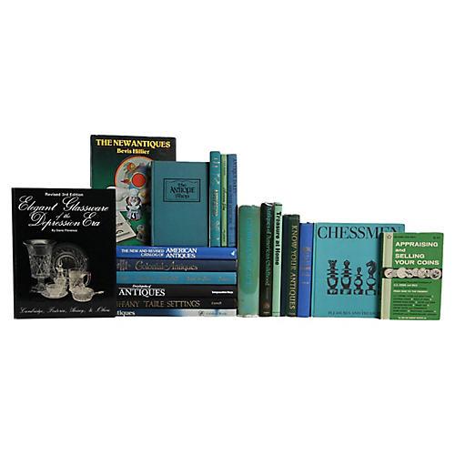 Antique Pleasures Book Set, S/20