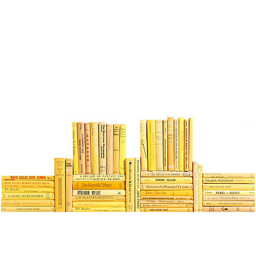 Midcentury Daffodil Book Wall, S/50