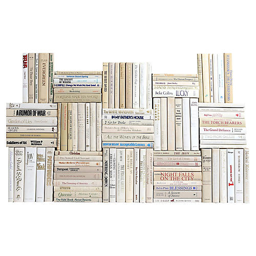 Retro Beach Book Wall, S/100
