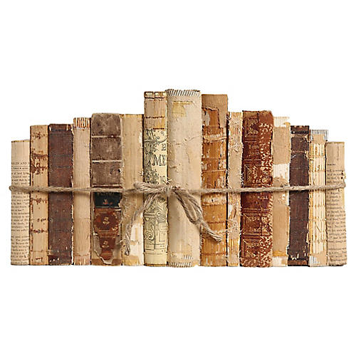 Distressed Paper & Leather Books, S/15