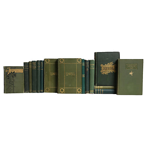 Antique Emerald Poetry Books, S/15