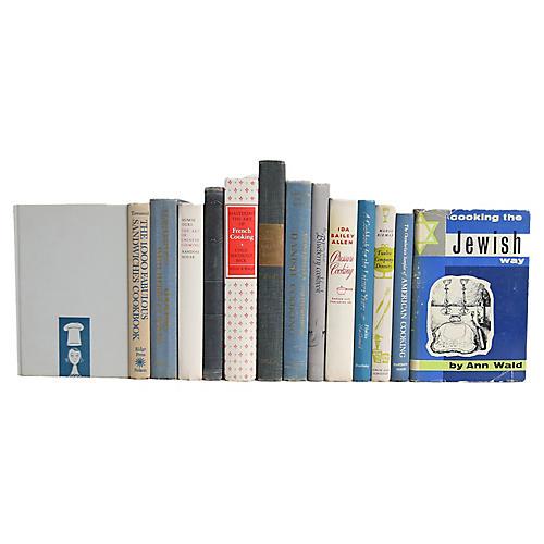 Blue & White Cookbooks, S/15