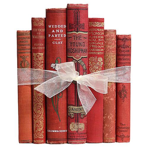 Antique Scarlet Books, S/7