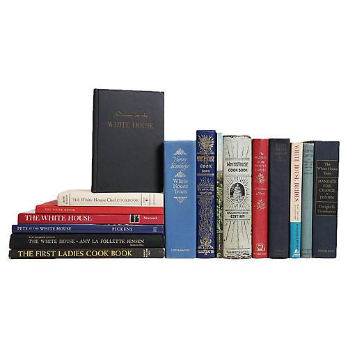 The Vintage White House Book Set, (S/16)