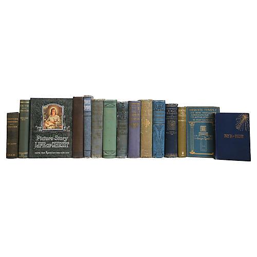 Antique Biblical Readings Book Set