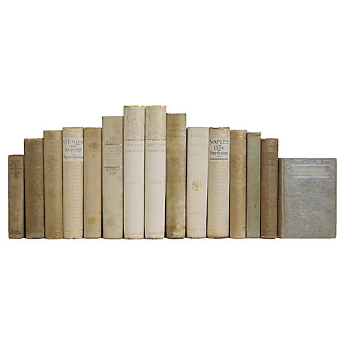 Antique Gold and Pearl book Set, (S/15)