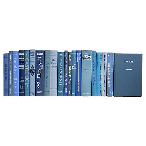 Midcentury Blues Book Set, (S/20)