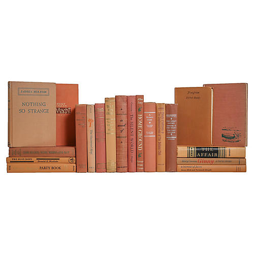 Midcentury Apricot Mix Book Set, (S/20)