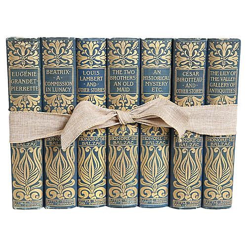 Royal Blue and Gilt Balzac Gift Set
